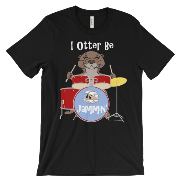 I Otter Be Jammin' Black T-shirt
