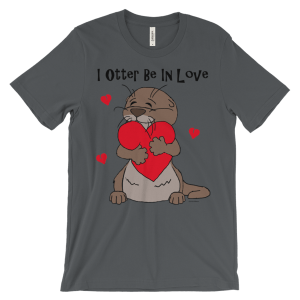 I Otter Be In Love Asphalt T-shirt