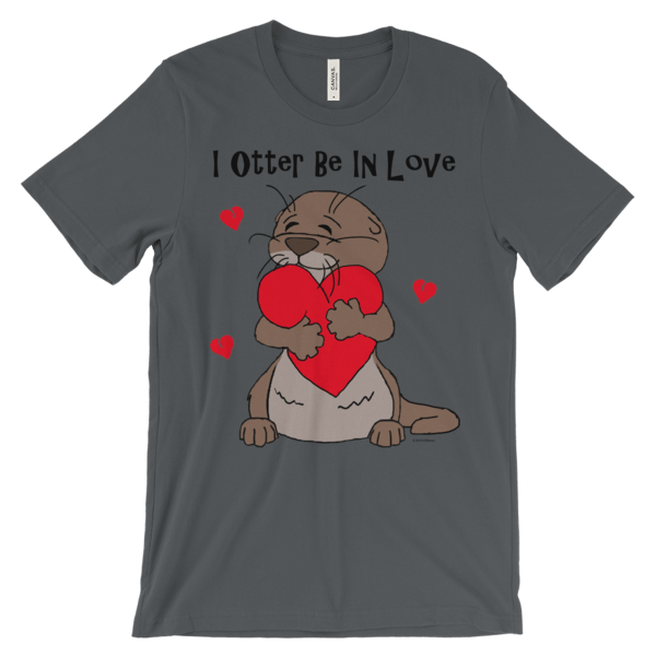 I Otter Be In Love Asphalt T-shirt