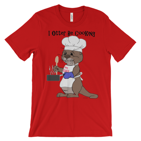 I Otter Be Cooking Red T-shirt