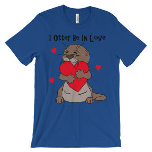 I Otter Be In Love Royal T-shirt
