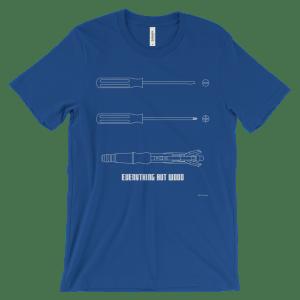 Sonic Screwdriver Royal T-shirt
