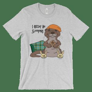 I Otter Be Sleeping Heather T-shirt