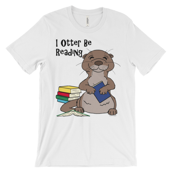 I Otter Be Reading White T-shirt