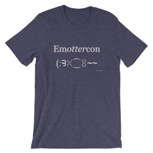 Emottercon Heather Midnight Navy T-shirt