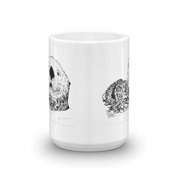 Pen & Ink Sea Otter Head Mug mockup_Front-view_15oz