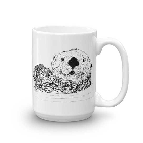 Pen & Ink Sea Otter Head Mug mockup_Handle-on-Right_15oz