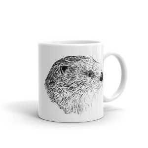 Pen & ink River otter Head Mug mockup_Handle-on-Right_11oz