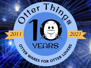 Otter Things 10th Anniversary Logo with Fireworks