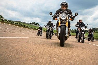 Triumph, Yamaha, Ducati, Moto Guzzi, Royal Enfield, Mash, Mondial, Hanway
