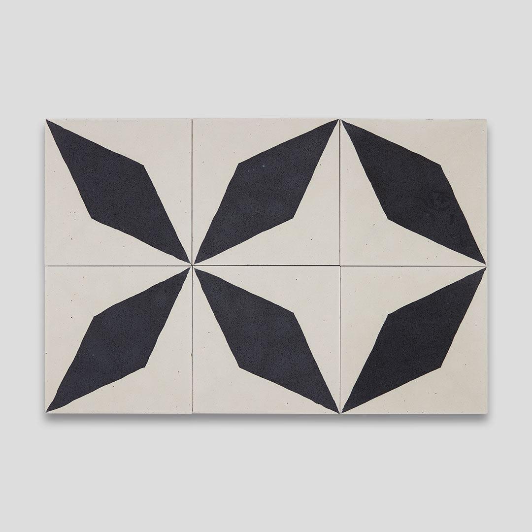 black diamond encaustic cement tile otto tiles design