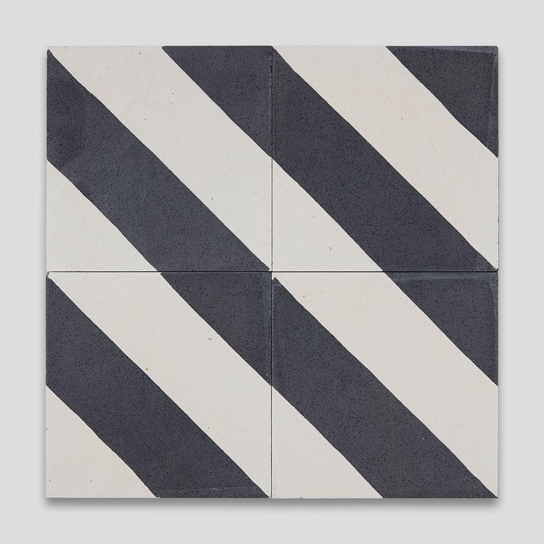 cross stripe black 601 encaustic cement tile otto tiles design