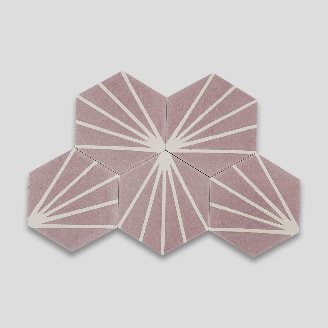 lily hex pink encaustic cement tile otto tiles design