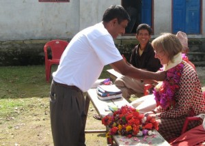 The Principal tying my khata