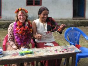 Didi, I, and my massive flowers