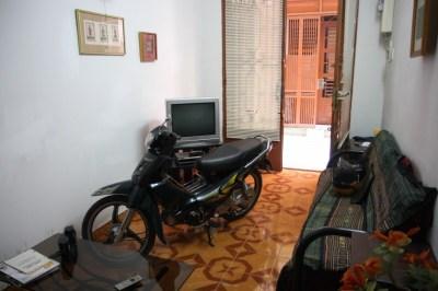 Motorbike parking in my living room