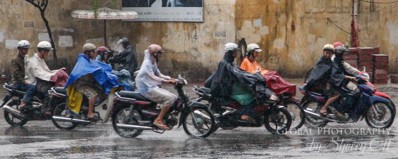 vietnam rainy season motorbike