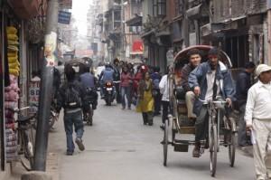 The busy streets of Kathmandu