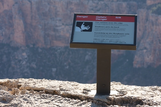 Fall dangers in national parks