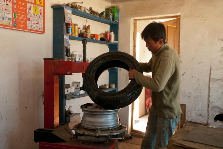 tire repair mongolia