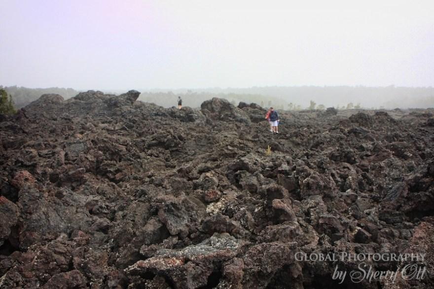 walk on lava