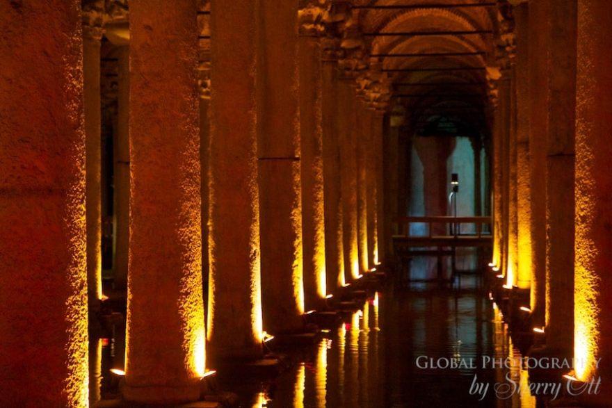 columns of the basilica cistern