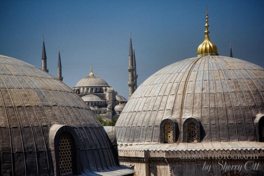 The view outside the Hagia Sophia
