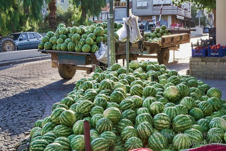 A pile of watermelon