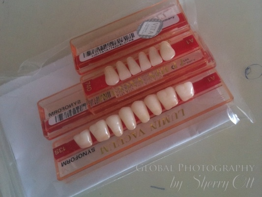 teeth delivered to the office