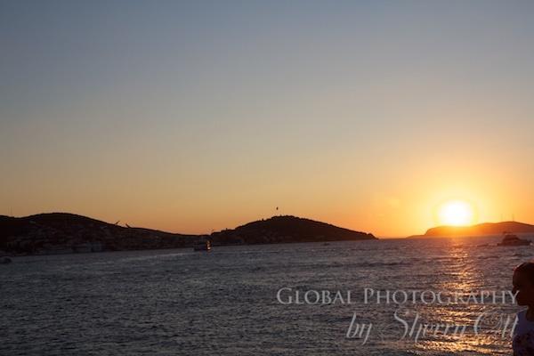 Sunset over Princes' islands