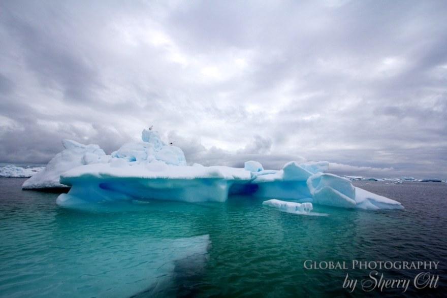 antarctica iceberg blue