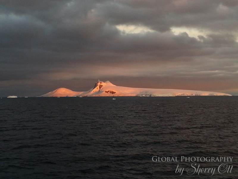 Antarctica sunset picture