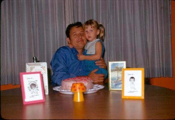 A birthday celebration as a child