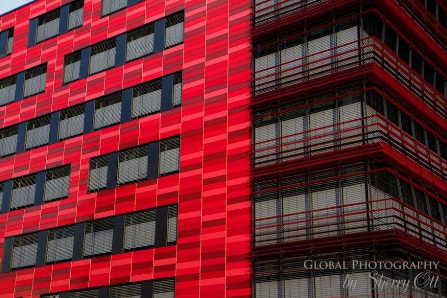 Red building friedrichshain berlin