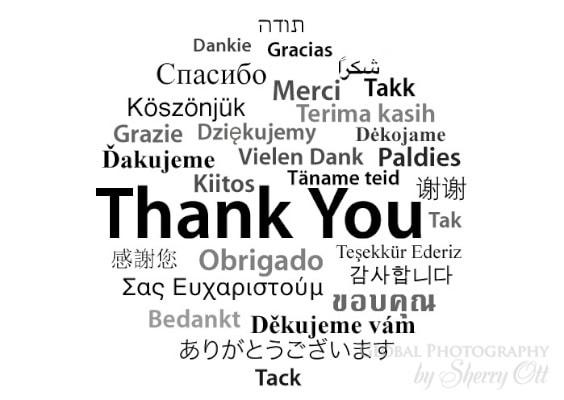 Expressing gratitude in words