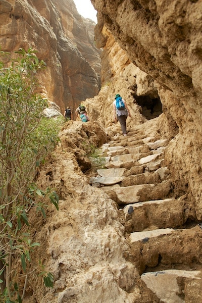 hiking in oman