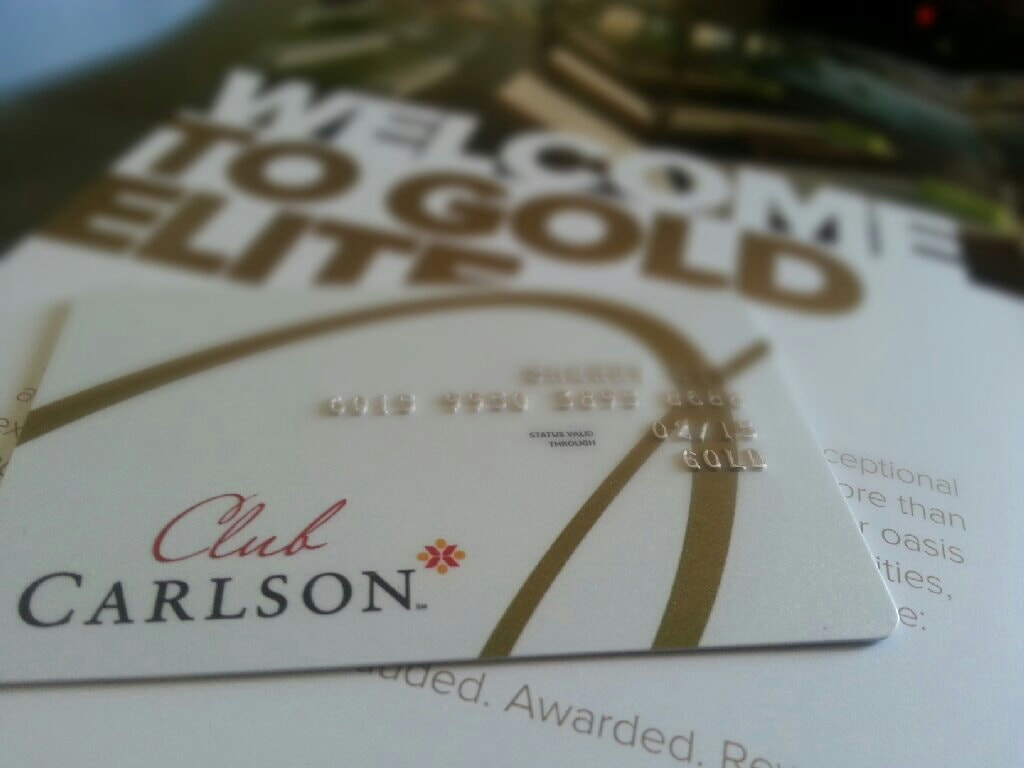Club Carlson Gold Points
