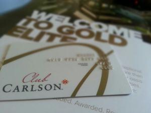 Club Carlson Gold Points