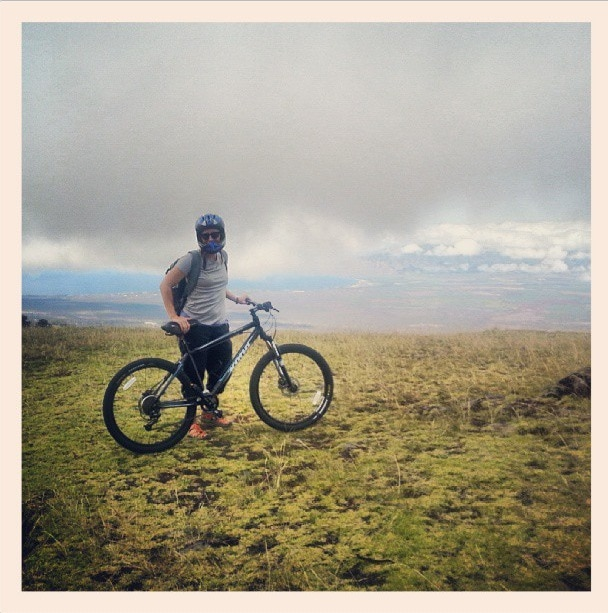 bike down Haleakala
