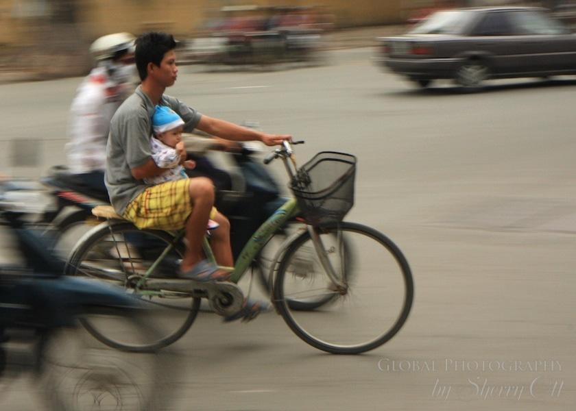 baby on board bike vietnam