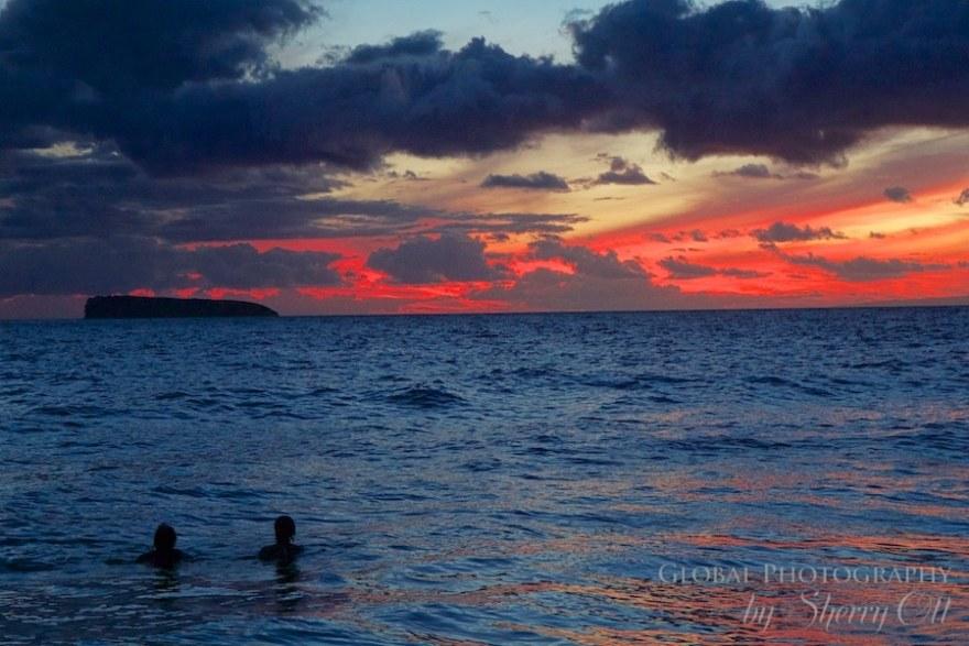 Little beach maui sunset