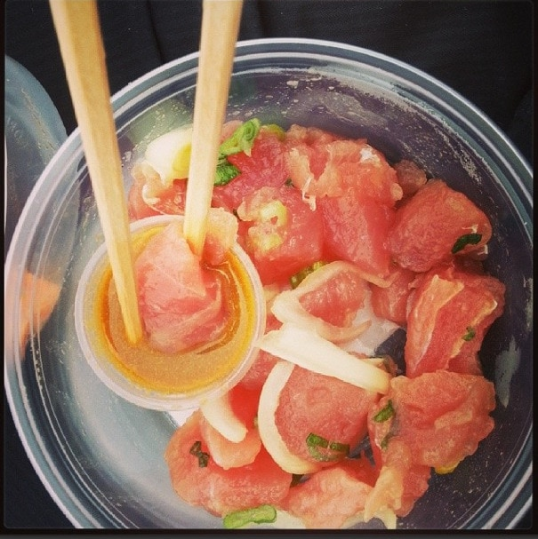 Poke for lunch