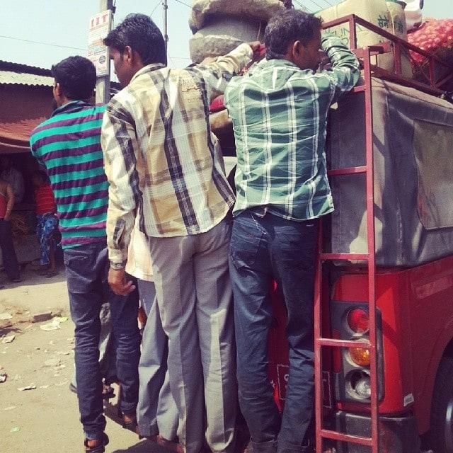 outdoor transportation in India on the Rickshaw Run