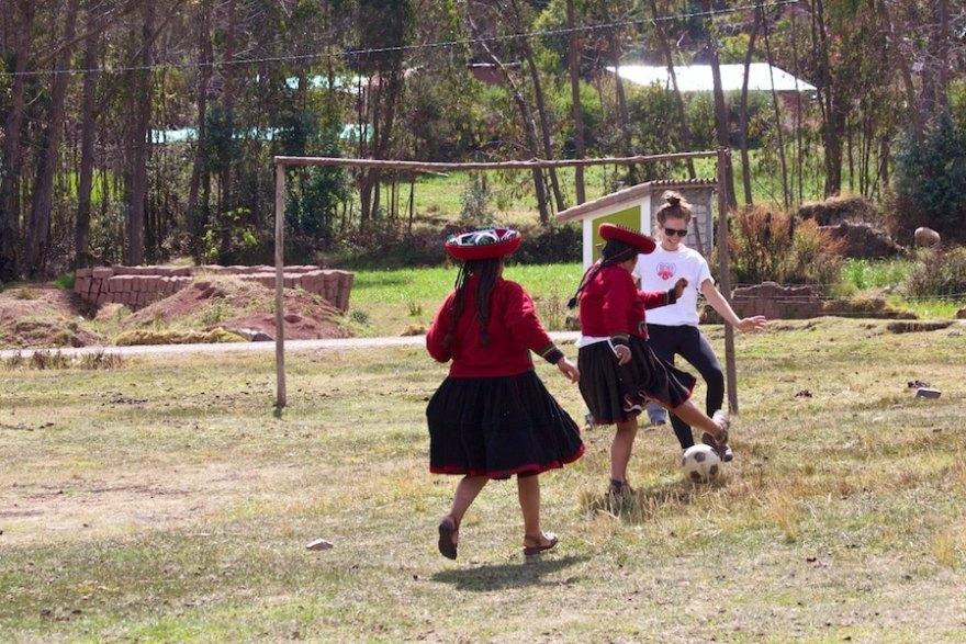 Soccer with locals Peru