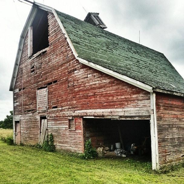 barn falling down