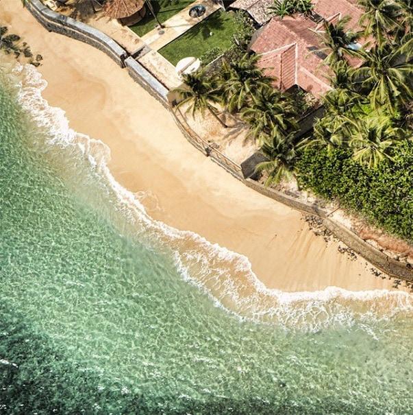 sri lanka beach from above