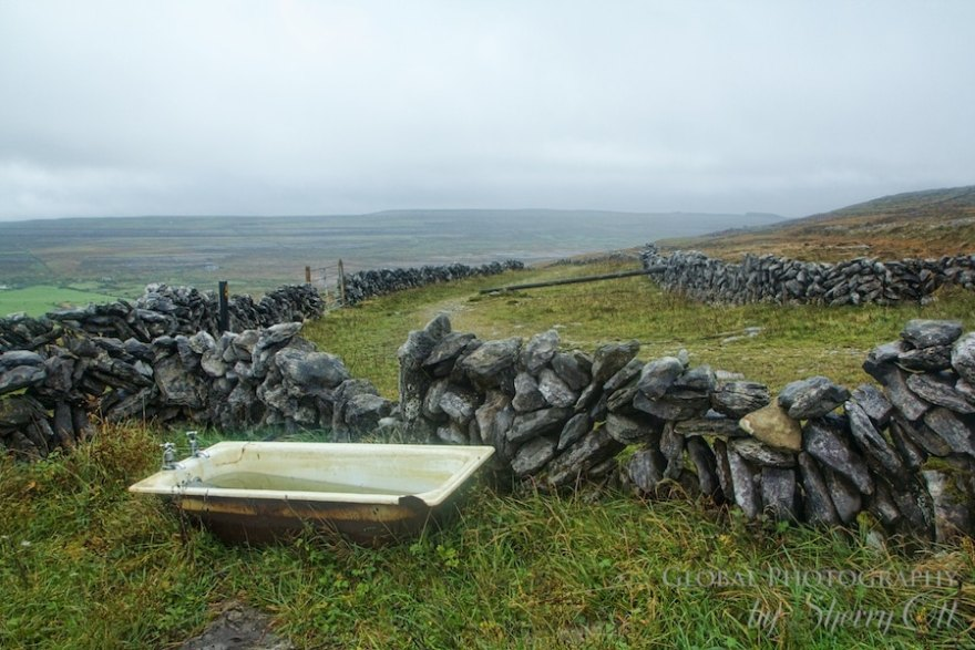 abandoned bath tub burren