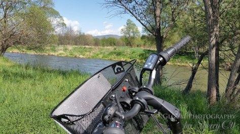 Biking along the river near Bolvir