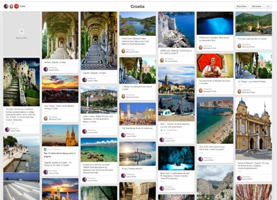 Our shared Pinterest Planning Board
