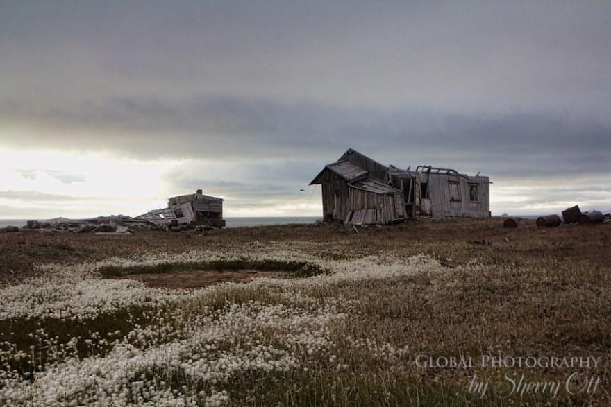 Wrangel Island abandoned buildings